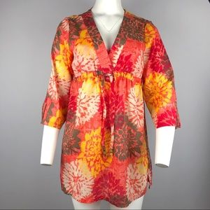 Capelli New York Floral Tunic Coverup Beach S